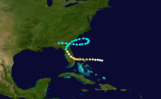 hurricane track florida 1871